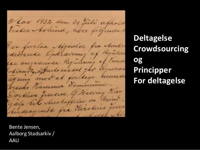 Teorier om crowdsourcing for arkiver