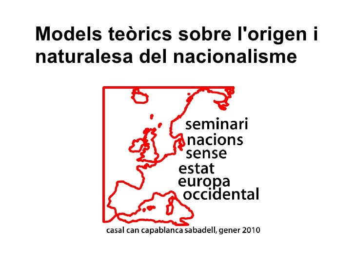 Models teòrics sobre l'origen i naturalesa del nacionalisme
