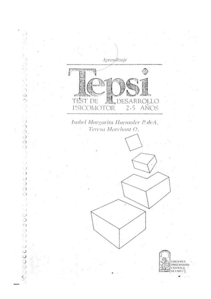 Tepsi test ( desarrollo psicomotor)