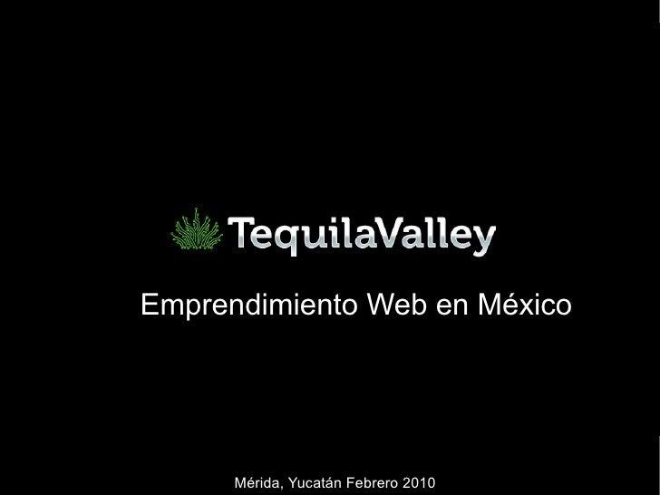 Emprendimiento Web en México Mérida, Yucatán Febrero 2010