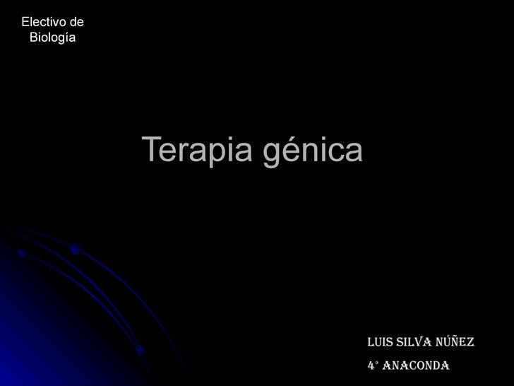 Terapia génica  Luis Silva Núñez 4° Anaconda  Electivo de Biología