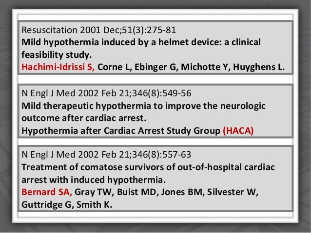 Role of Induced Hypothermia in cardiac arrest Essay Sample