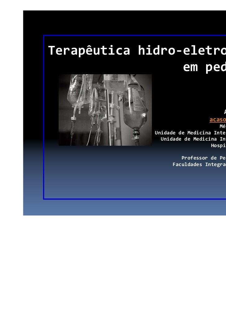 Terapêutica hidroeletrolítica da criança