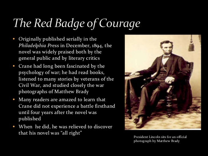 essay about the red badge of courage The red badge of courage is a war novel by american author stephen crane ( 1871–1900)  fighting words: the talk of men at war in the red badge  critical essays on stephen crane's the red badge of courage ed donald  pizer.