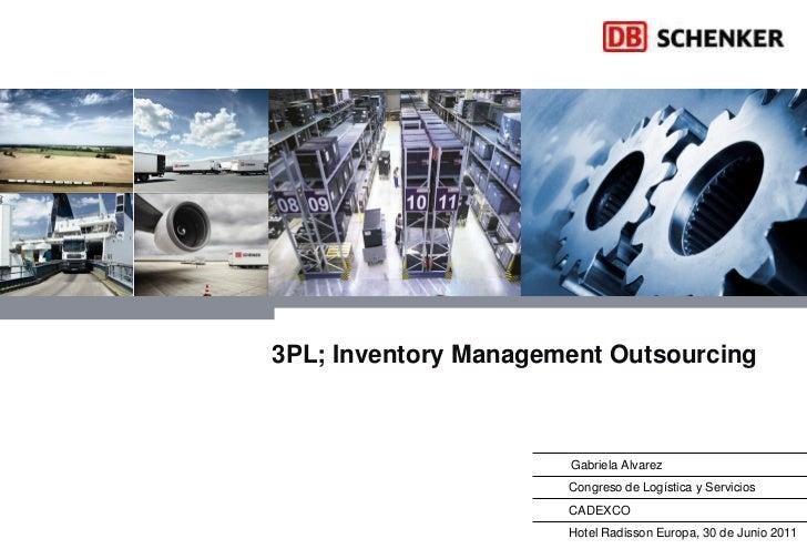 3PL; Inventory Management Outsourcing                      Gabriela Alvarez                      Congreso de Logística y S...