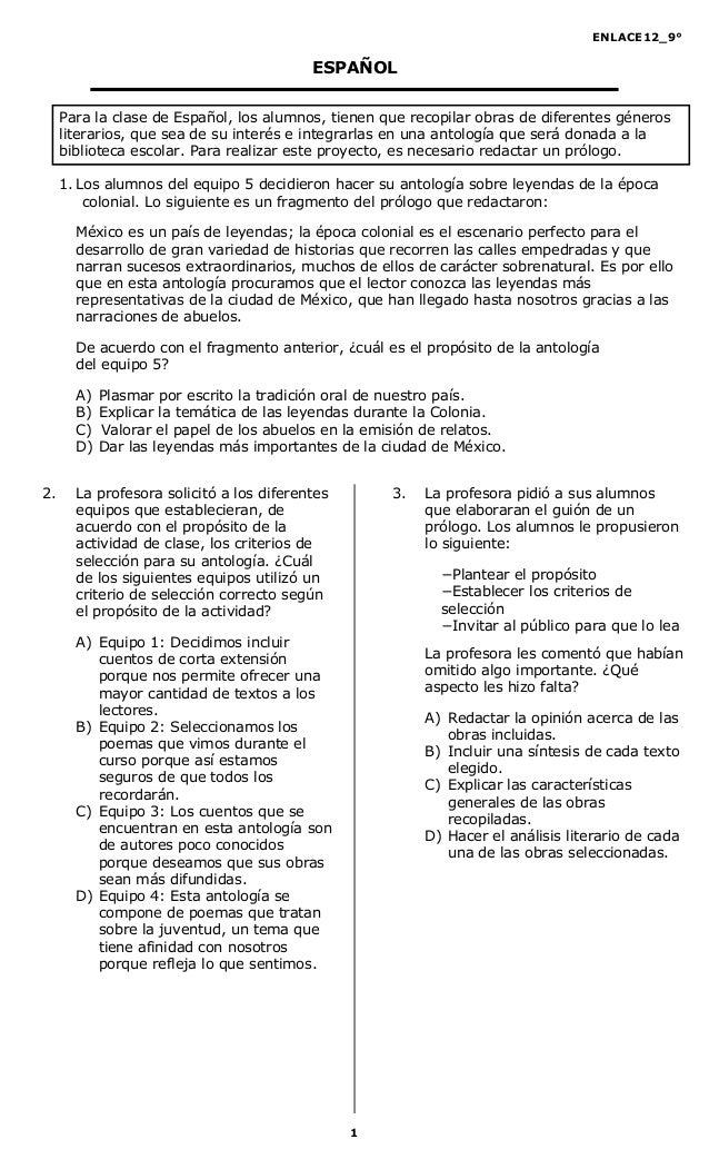 Examen De Espaol Tercer Grado De Secundaria Tercer | MEJOR CONJUNTO DE