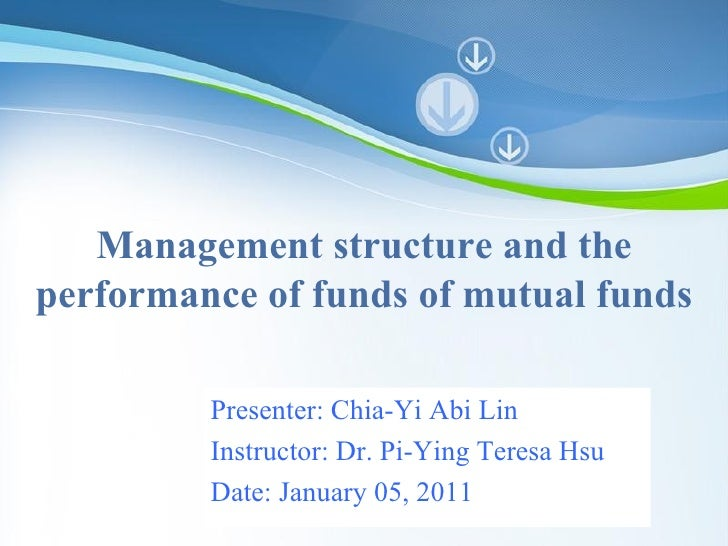 Powerpoint Templates Management structure and the performance of funds of mutual funds Presenter: Chia-Yi Abi Lin Instruct...