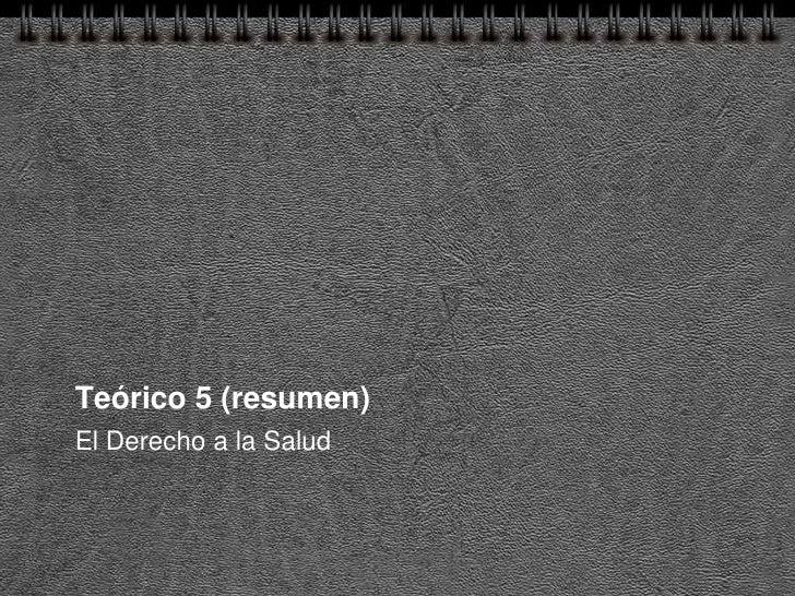 TeóRico 5 Sp(Resumen)