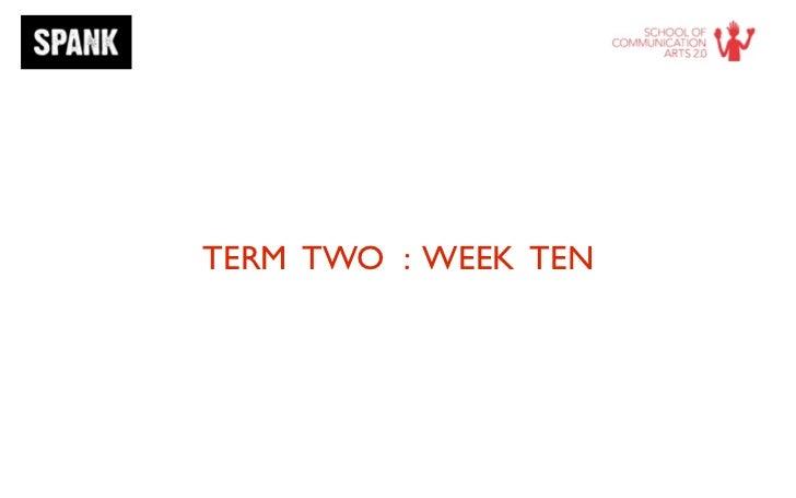 Term 2   week 10