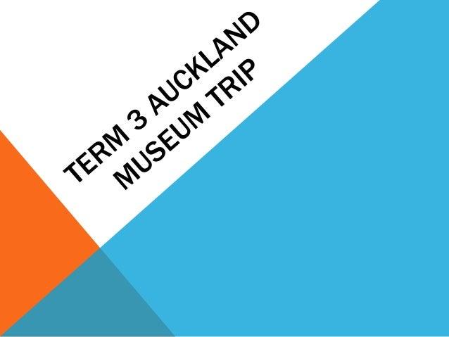 Term 3 Auckland Museum Trip