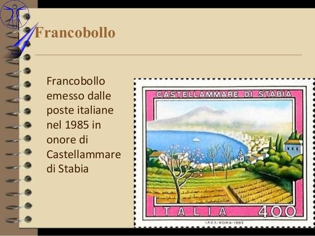 Francobollo Francobollo emesso dalle poste italiane nel 1985 in onore di Castellammare di Stabia