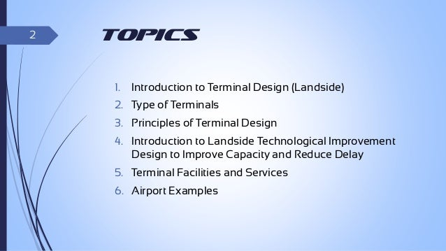 Airport design thesis pdf