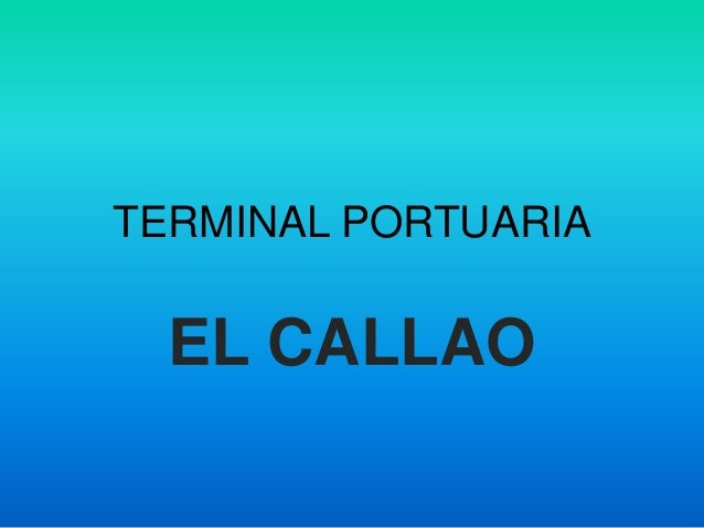 Terminal Portuaria