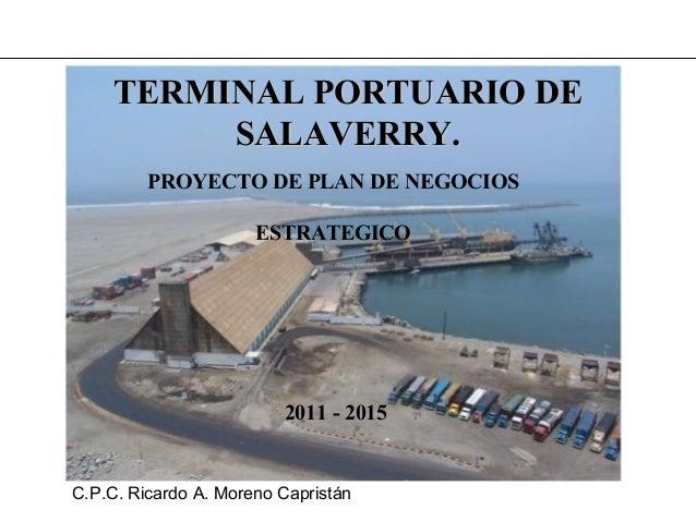 Terminal Portuario de Salaverry al 2015