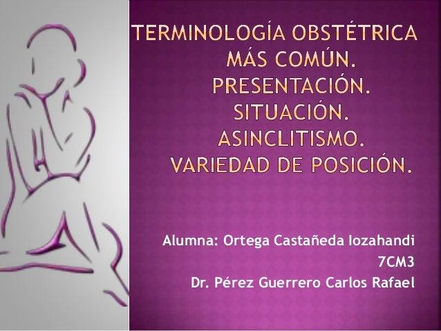 Alumna: Ortega Castañeda Iozahandi 7CM3 Dr. Pérez Guerrero Carlos Rafael