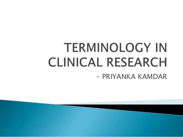 Clinical Research Terminology