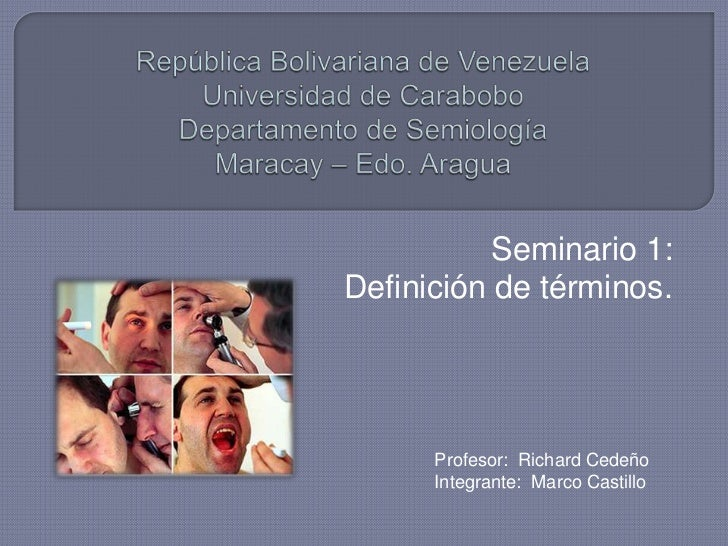 Terminos básicos. Introducción a la semiologia.
