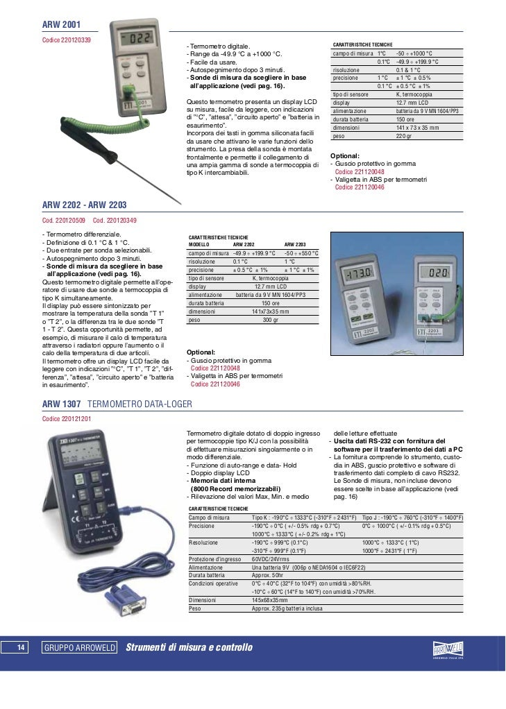 ARW 2001Codice 220120339                                                    - Termometro digitale.                        ...