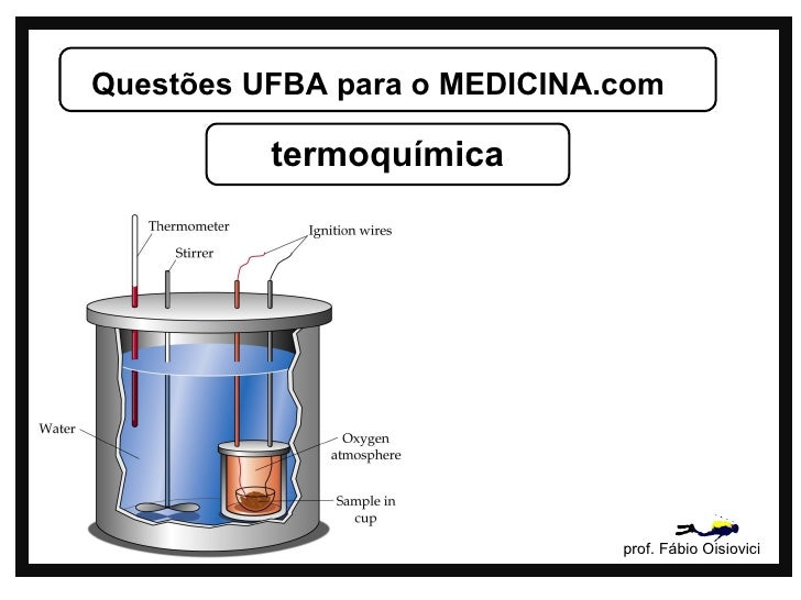 Questões UFBA para o MEDICINA.com          termoquímica                              prof. Fábio Oisiovici
