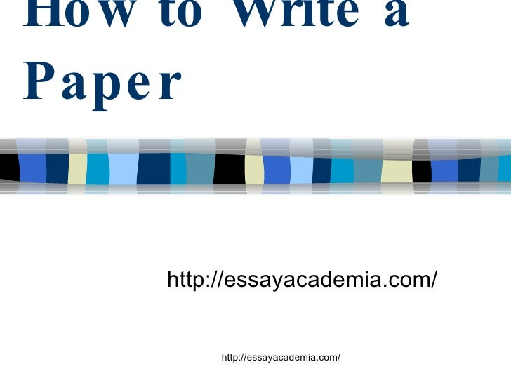 Structure of Term papers