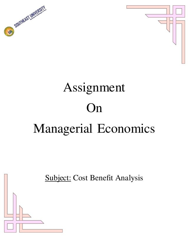 term paper managerial economics 1 / 2 managerial economics-i sample exam questions instructions: this document contains five questions from previous mid-term exams of managerial economics, and is.