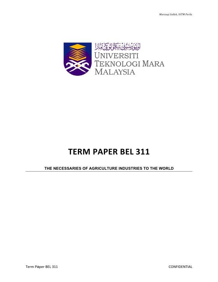 Outline term paper