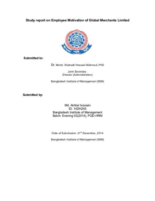 Employee motivation dissertation pdf
