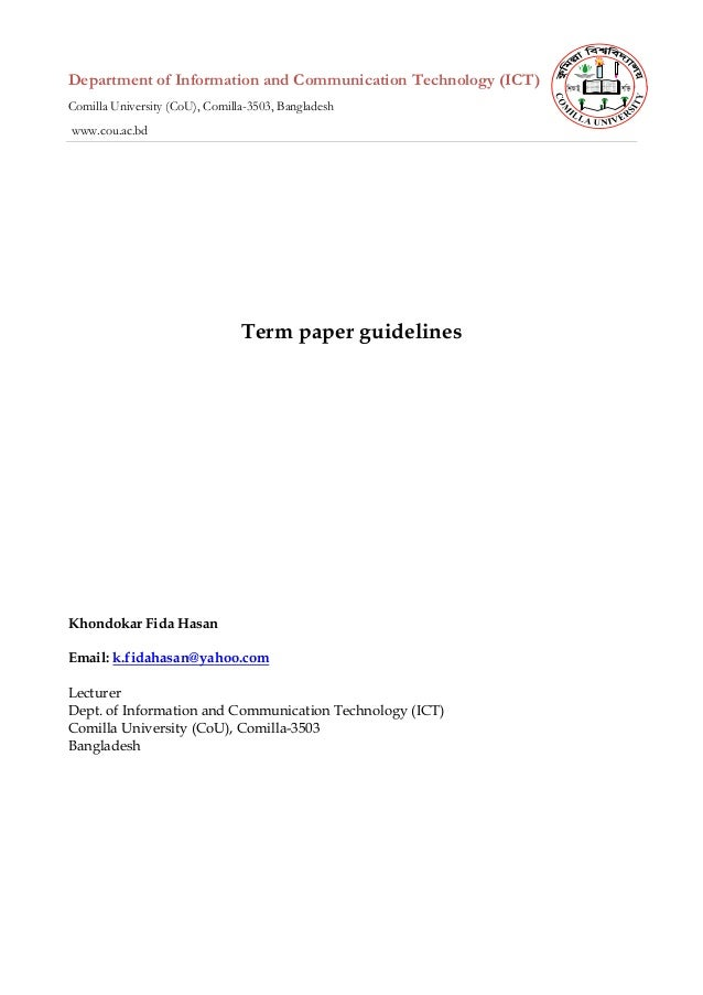 Term paper - Wikipedia, the free encyclopedia
