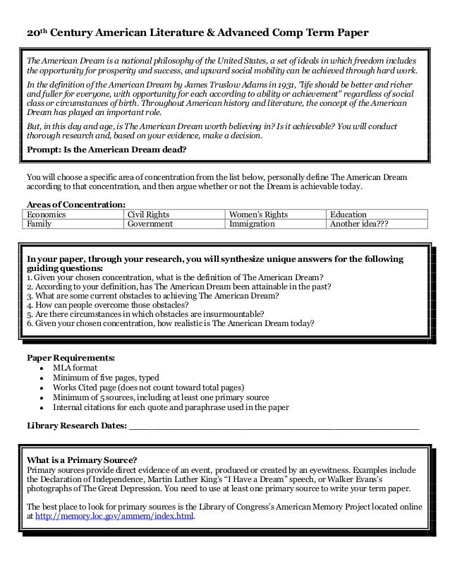 Thesis Statement For American Dream Essay   Original Six Traits Of Writing Essay