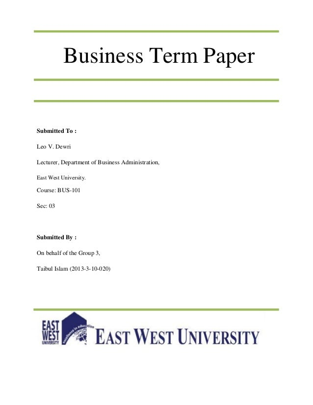 Term Paper About Business