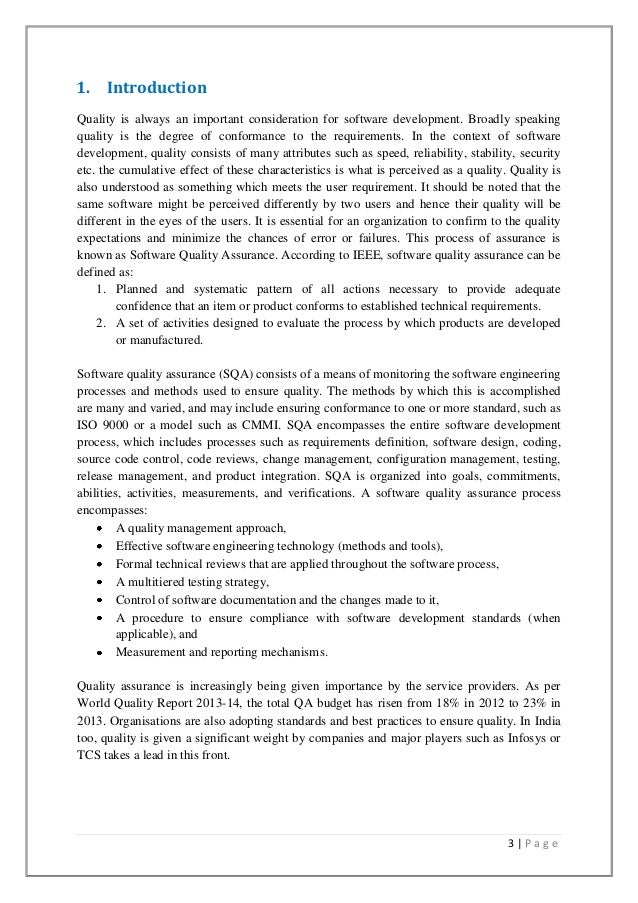 Software quality assurance research paper pdf