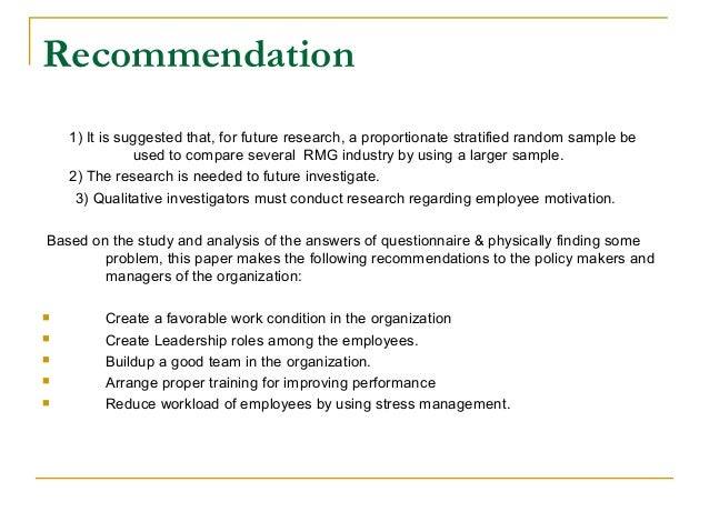 Guidelines : Recommendation for a Company