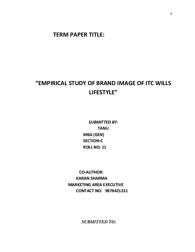 formal research paper title page It also contains general guidelines and further descriptions for the parts of a research proposal create your title page in a word document, save and name it.