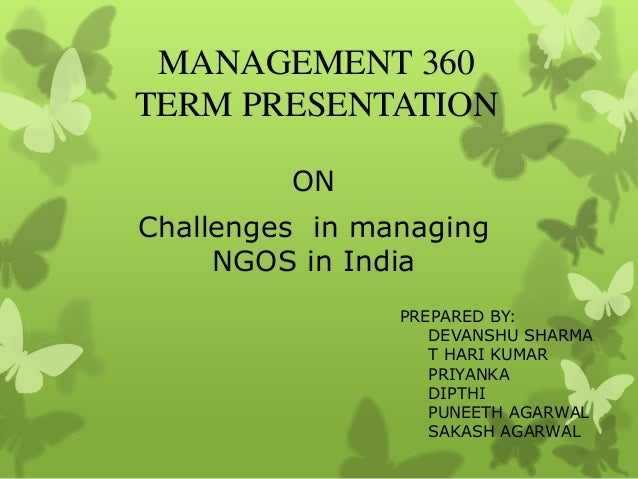 Challenges in managing NGOS in India