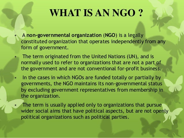 What is a Non-Governmental Organization (NGO) ? | All Round ...