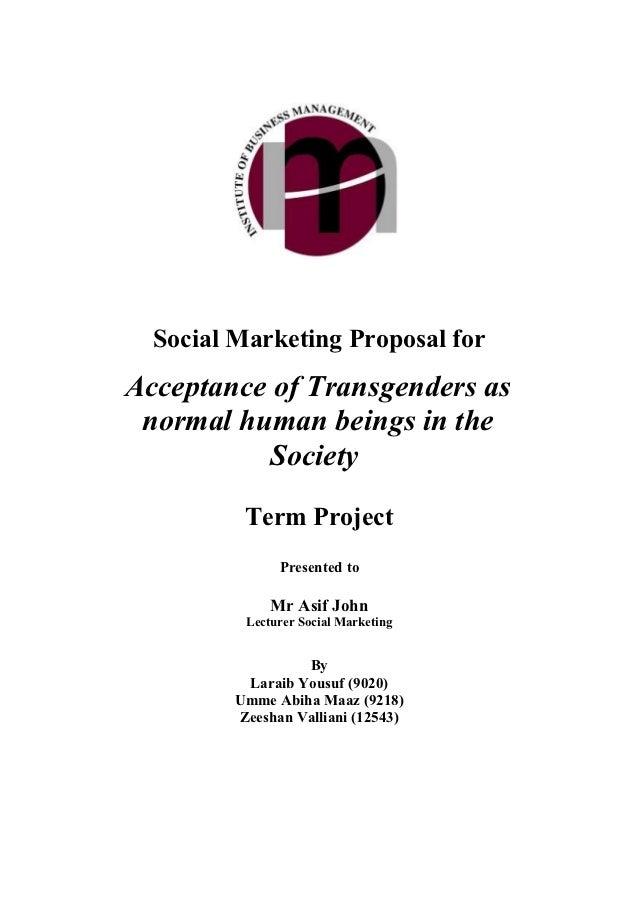 Social Marketing Plan for Transgenders