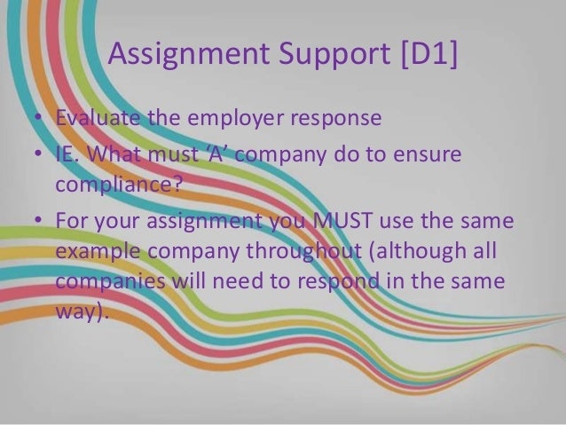 Employment law assignment