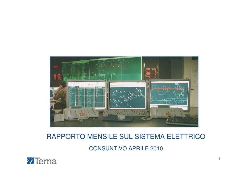 Terna statistiche energia aprile 2010