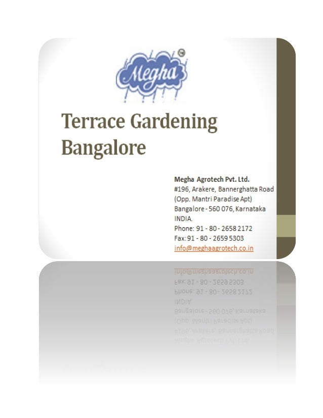 Terrace gardening bangalore for Gardening tools bangalore