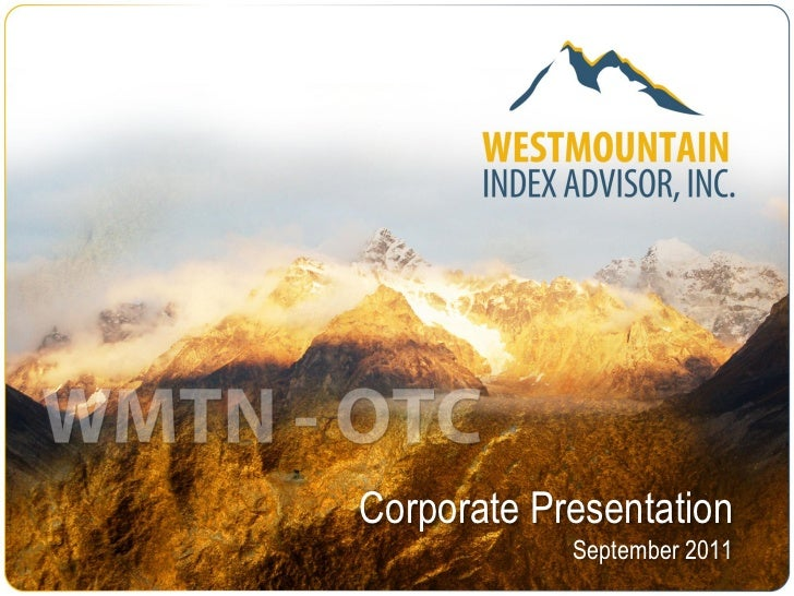 WestMountain Index Advisor/Terra mining corp/