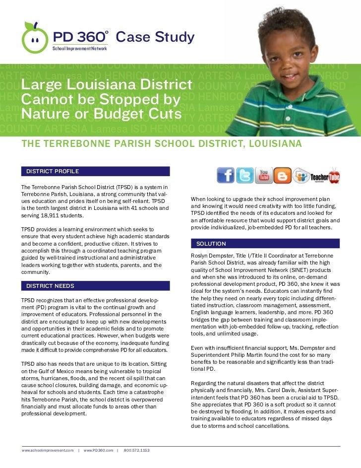 Terrebonne Parish School District, LA Case Study