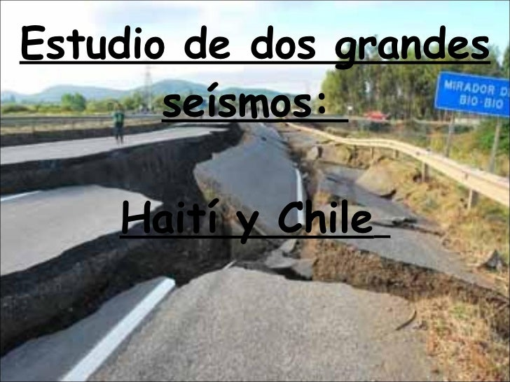 Terremotos de Haiti y Chile por Mª Paz Carceles,Jesus Sanchez,Juan Fco. Sanchez