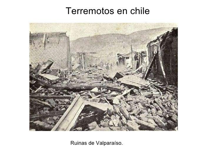 Terremotos en chile Ruinas de Valparaíso.