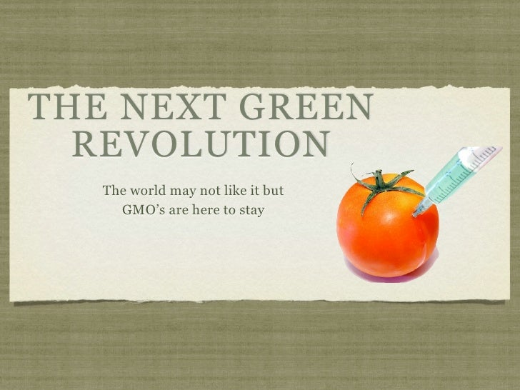 THE NEXT GREEN  REVOLUTION   The world may not like it but     GMO's are here to stay