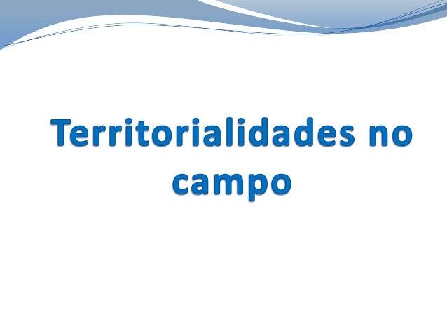 Territorialidades no campo