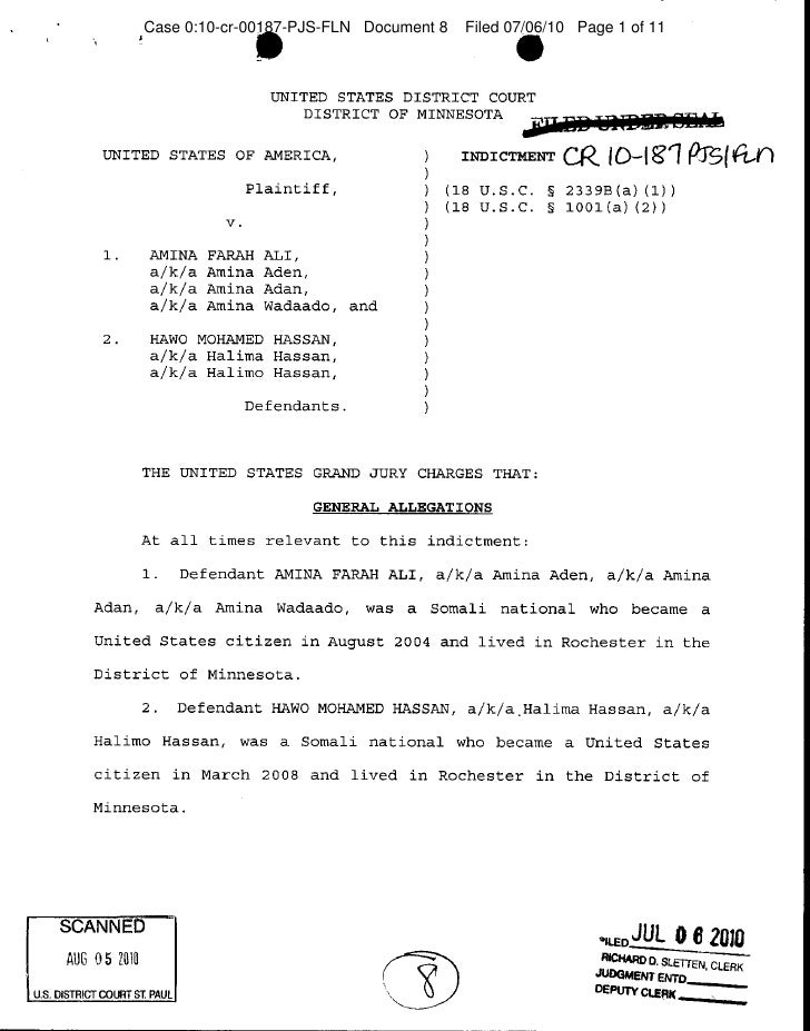 Case 0:10-cr-00187-PJS-FLN Document 8   Filed 07/06/10 Page 1 of 11