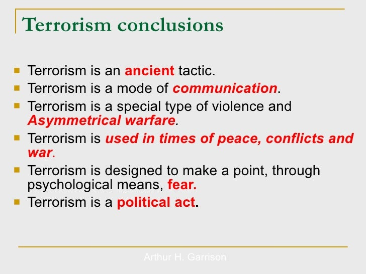 terrorism and corruption essay