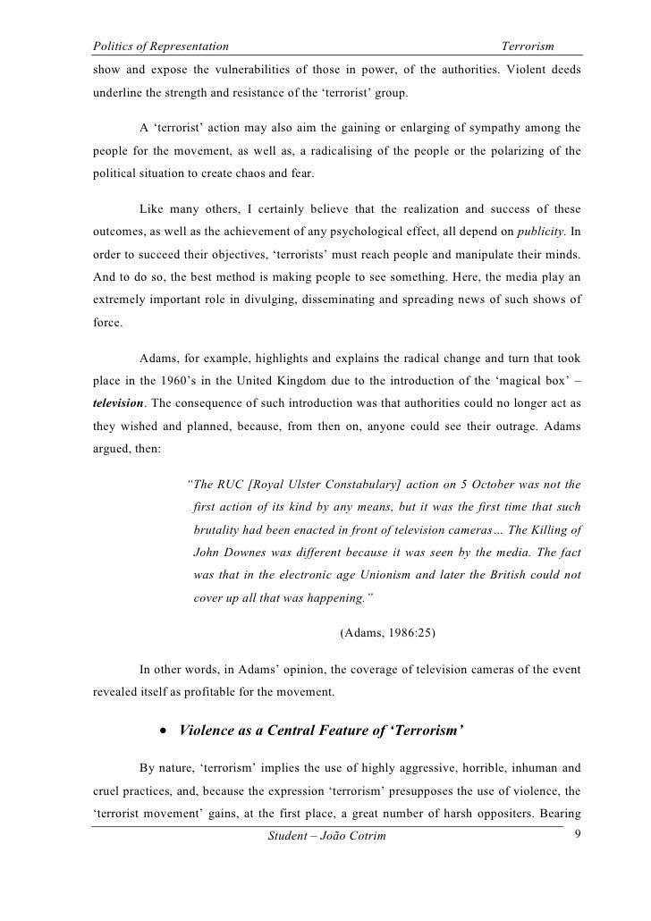 Terrorism essay