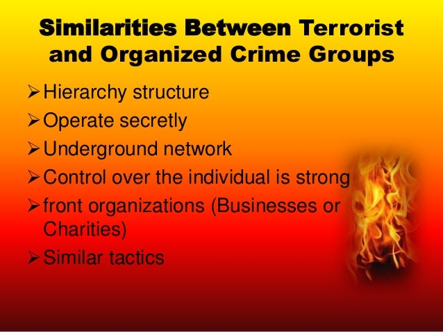 bovenkerk terrorism and organized crime terrorism and organized crime by frank bovenkerk1 and bashir abou chakra2 abstract analyses on organized crime and terrorism have for a long time been conducted by different research communities.