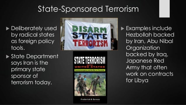This is my introduction and my first point/definition of state terrorism. Is it alright?